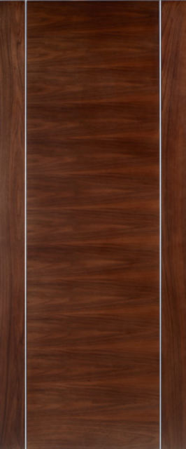 ALCARAZ FIRE DOOR: FD30 Flush *WALNUT* 44mm Pre-Finished Fire Door - LPD Doors