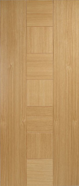 CATALONIA FIRE DOOR: FD30 Flush *Pre-Finished OAK* 44mm Fire Door - LPD Doors