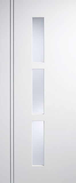 Sierra Blanco Glazed Door: 3-light *Frosted Glass* *Pre-Finished White* 35mm Internal Door - LPD Colour Doors