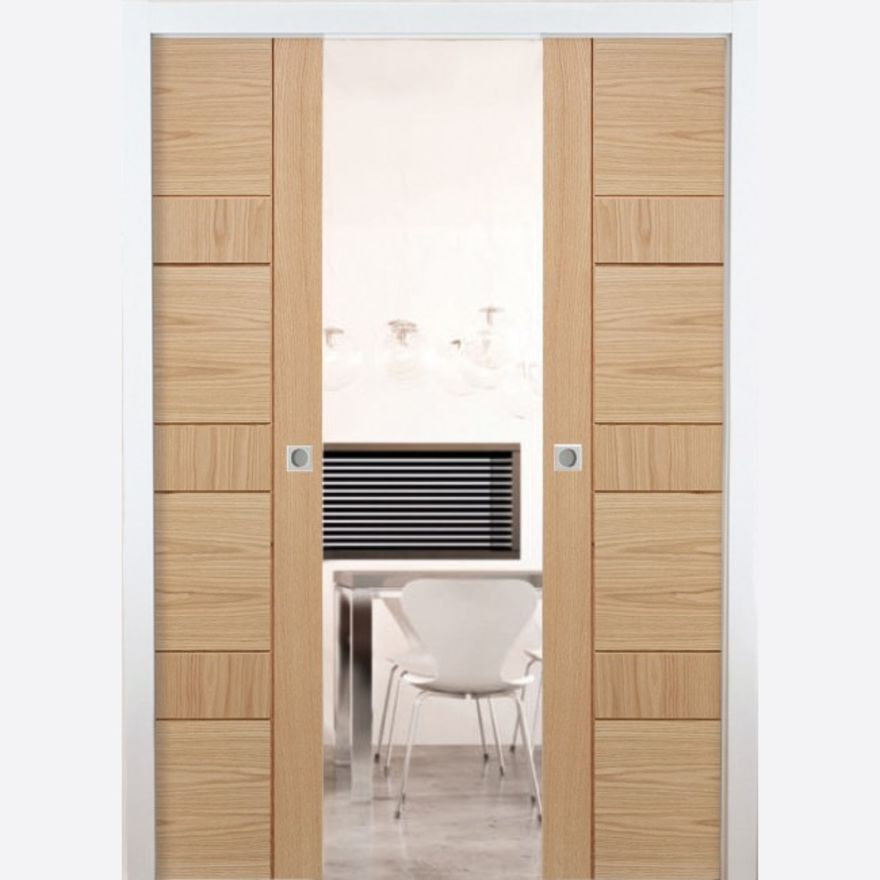 Double Pocket Door System