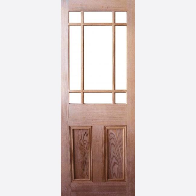 Downham Unglazed Door 9-light (to Glaze) u003d Pitch Pine u003d 35mm Internal Door - LPD Pitch Pine Doors & Downham Unglazed Pitch Pine LPD Doors