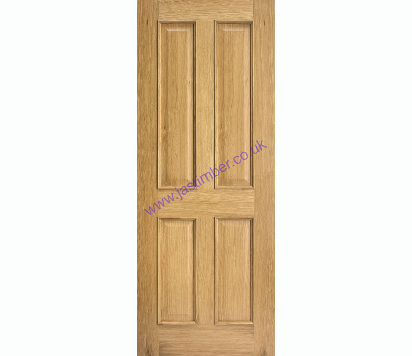 Regency 4-Panel +Raised Mouldings+ Oak Internal Doors - LPD Doors