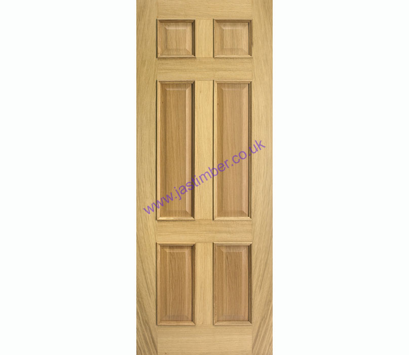 Regency 6-Panel +RM+ Oak Internal Door - LPD Door