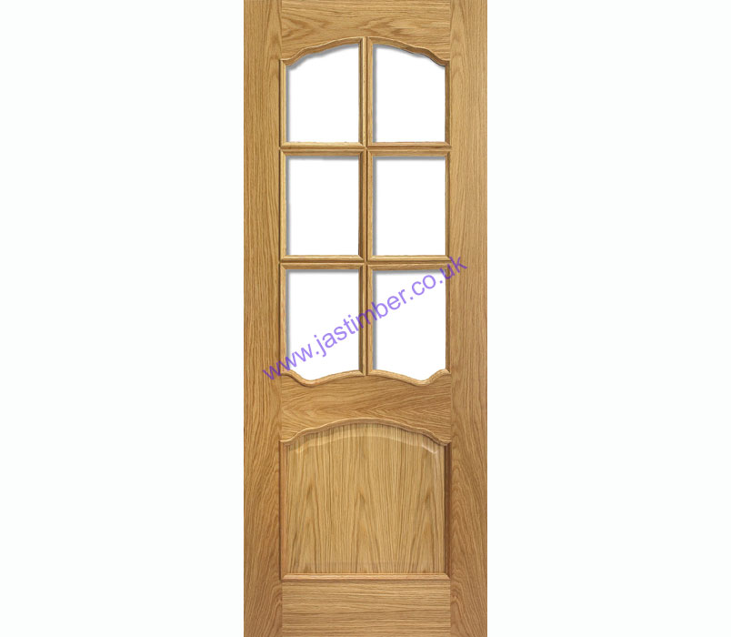Riviera 6-light Glazed Oak Internal Pre-Finished Door -  LPD