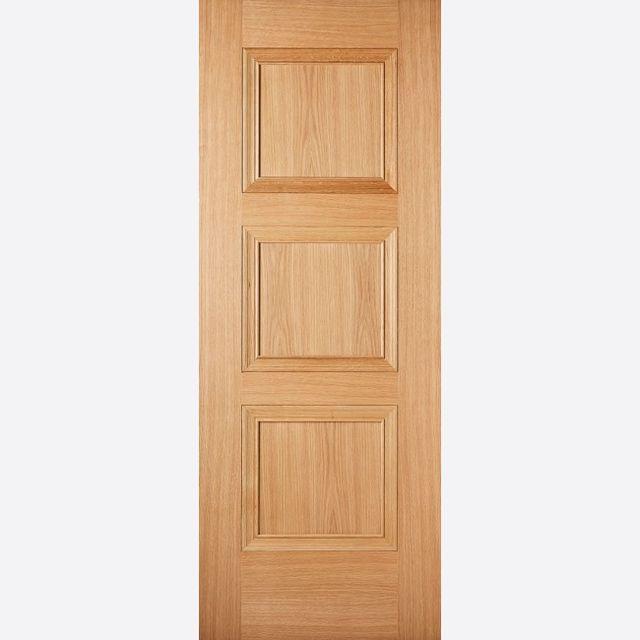 Amsterdam PF Oak Door 3-Panel *Pre-Finished Oak* 35mm Internal & LPD Premium Oak Internal Doors   JAS Timber