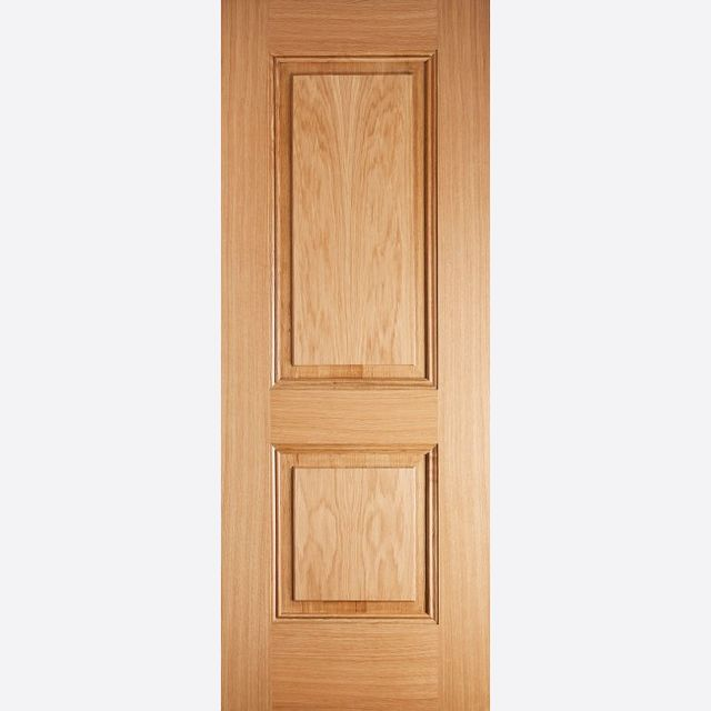 Arnhem PF Oak Fire Door: FD30 2-Panel *Pre-Finished Oak* 44mm Internal Firecheck - LPD Premium Oak Fire Doors