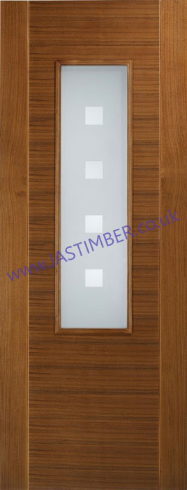 Coruna Glazed Walnut Flush Door - LPD Doors