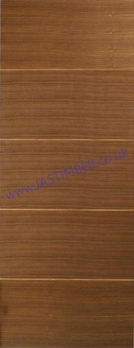 Santandor FD30 Walnut Flush Fire Door - LPD Doors