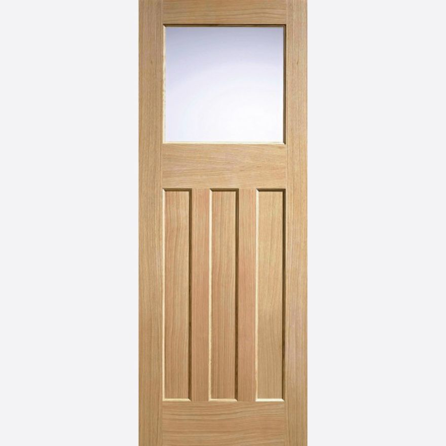 DX Frosted Glazed Oak Door