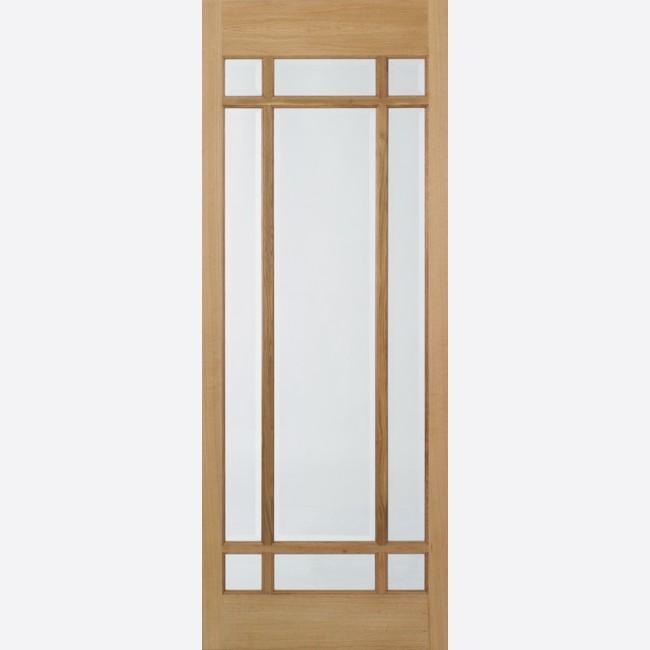 Lyon Glazed Door 9-light *Clear Glazed* *Pre-Finished Oak* 35mm Internal Door - LPD Traditional Oak Doors  sc 1 st  JAS Timber & Lyon Glazed Oak Door