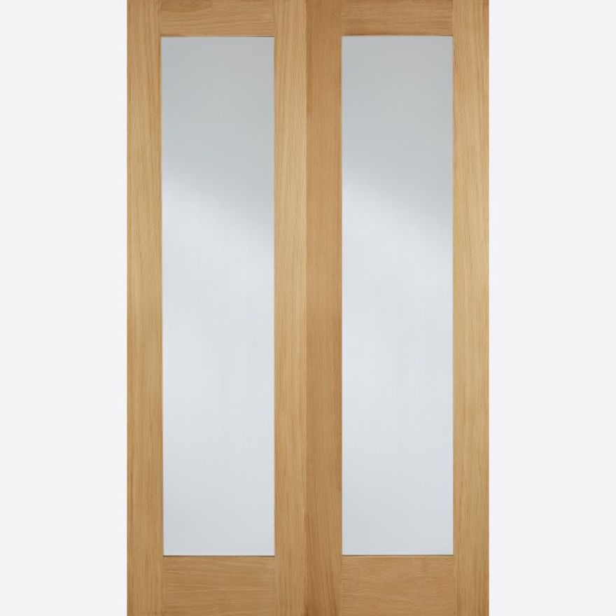 Pattern 20 Glazed Oak Pair Doors