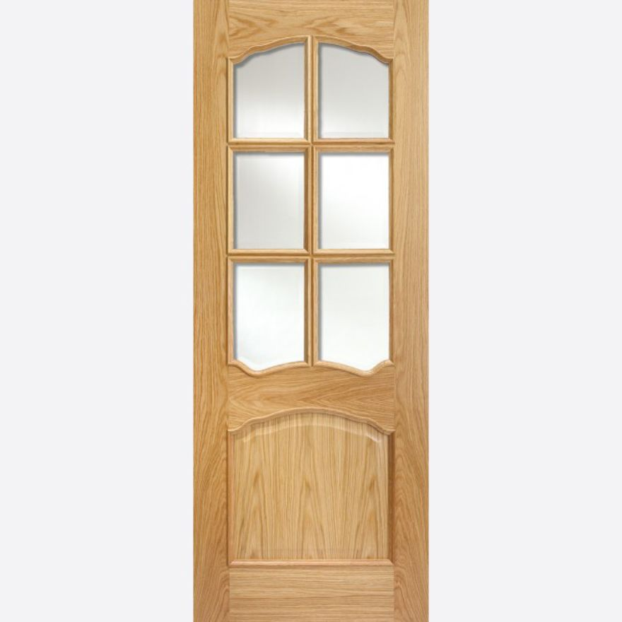 Riviera Glazed RM2S Oak Door