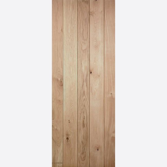 Solid Oak Ledged Door *Unfinished Oak* 40mm Internal Door - LPD Traditional Oak Door & Rustic Solid Oak Ledged Door