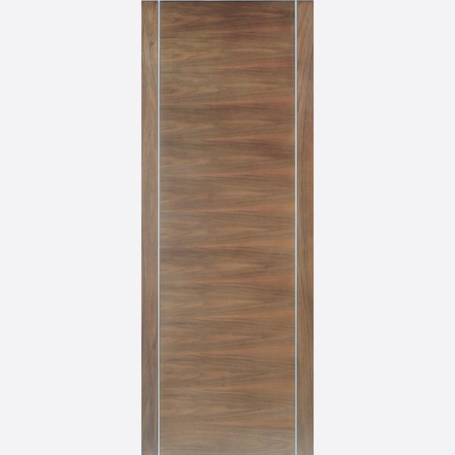 Alcaraz Door: Flush *Pre-Finished Walnut* 35mm Internal - LPD Walnut Doors