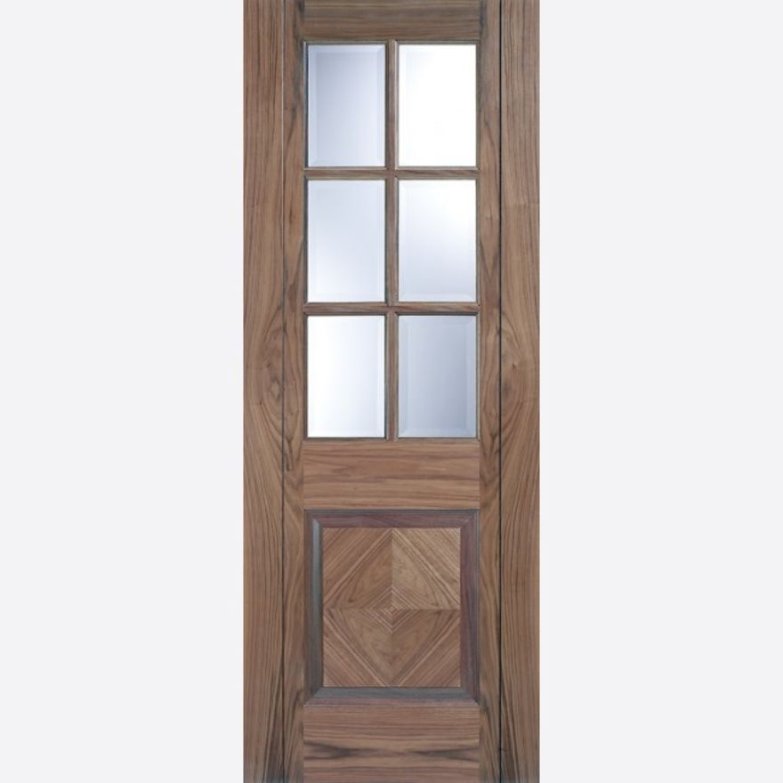 Barcelona Glazed Walnut Door