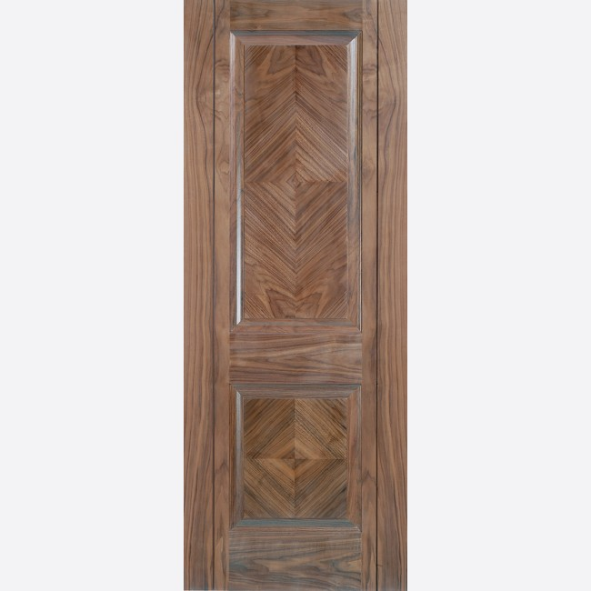 Madrid Door 2-Panel *Pre-Finished Walnut* 35mm Internal Door - LPD Walnut Doors & Madrid Walnut Internal Door