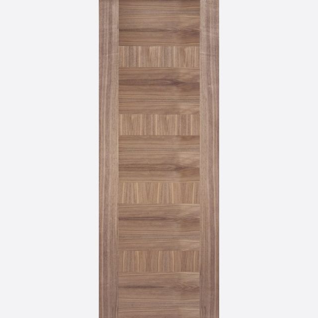 Monaco Fire Door: FD30 Flush *Pre-Finished Walnut* 44mm Internal Fire Door - LPD Walnut Fire Doors