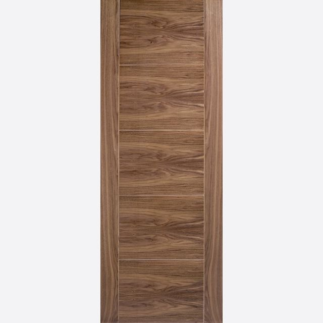 Vancouver Fire Door: FD30 Flush *Pre-Finished Walnut Veneer* 44mm Internal Firecheck - LPD Walnut Fire Doors