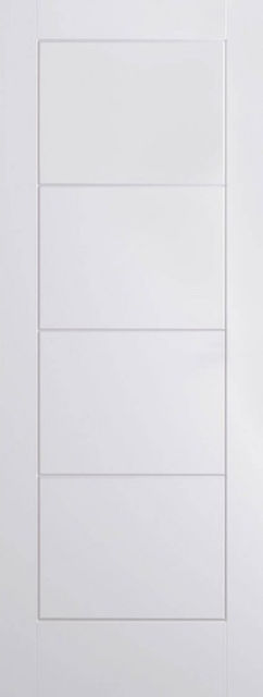 Ladder Door: 4-Panel White Woodgrain 35mm Internal - LPD Essentials Doors