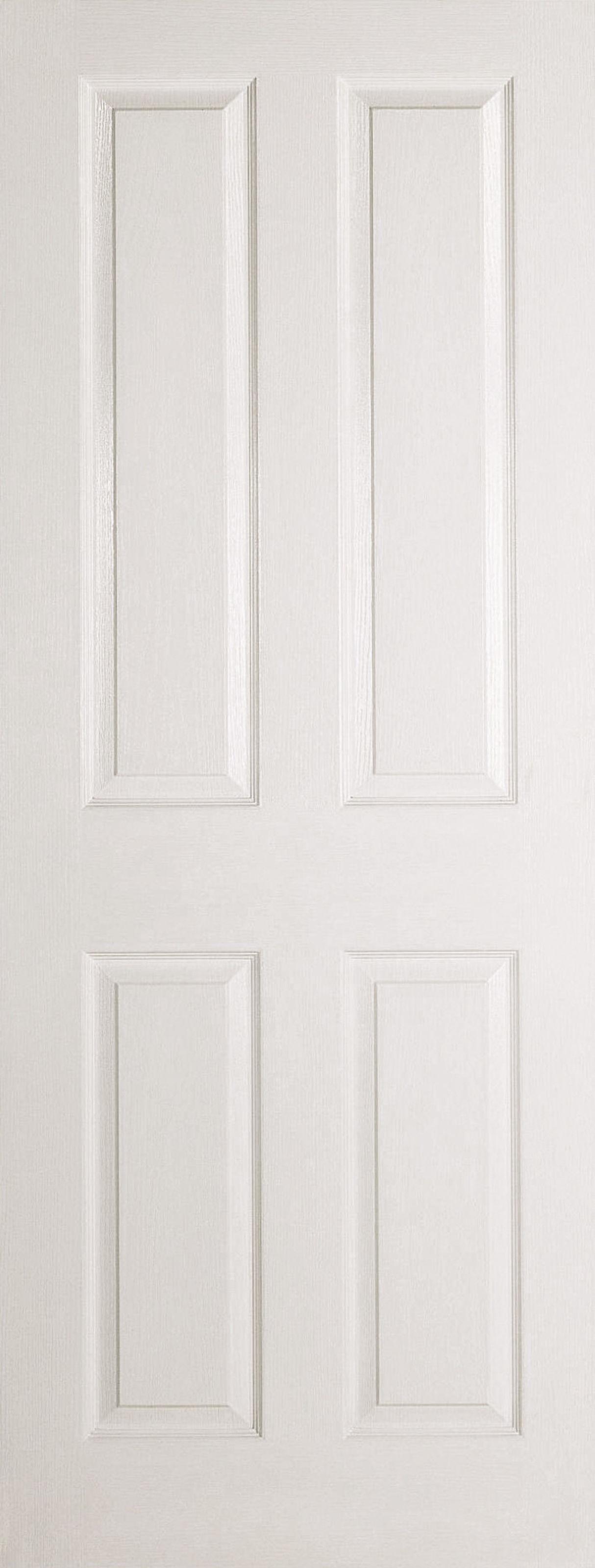 4 panel white interior doors. Textured 4P Door: 4-Panel Square Top White Woodgrain 35mm Internal Door - LPD Essentials Doors 4 Panel Interior