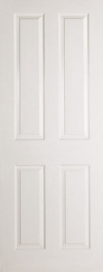 Textured 4-Panel White Moulded Internal Doors