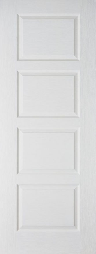 Textured Contemporary White Moulded Door