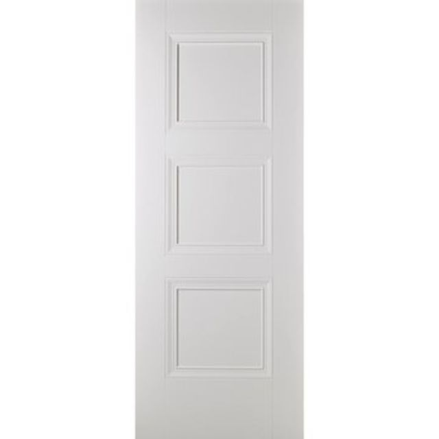 Amsterdam Fire Door: FD30 3-Panel *White Primed* 44mm Internal Fire Door - LPD White Fire Doors