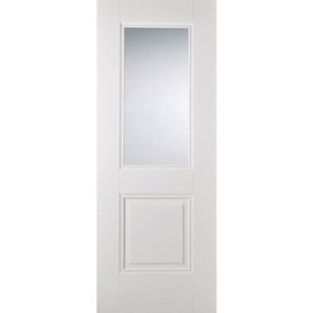 Arnhem Glazed Door: 1-light *Clear Glazed* *White Primed* 35mm Internal Door - LPD White Doors