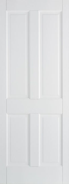 Canterbury Fire Door: FD30 4-Panel *White Primed* 44mm Internal Fire Door - LPD White Fire Doors