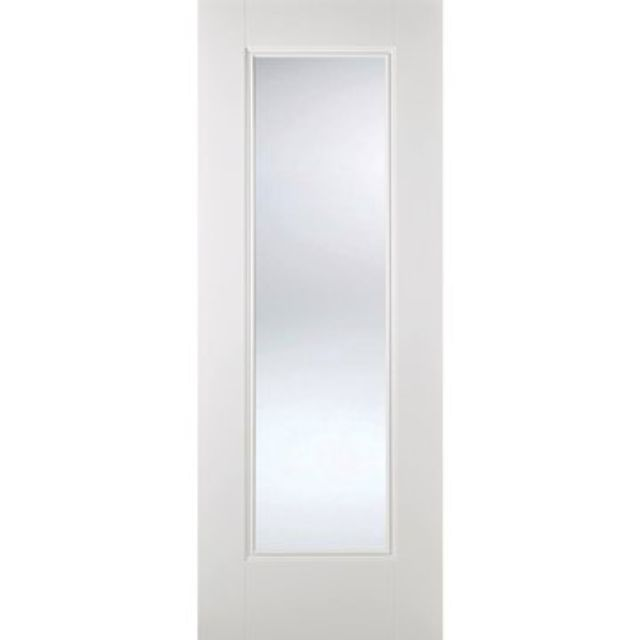 Eindhoven Glazed Door: 1-light *Clear Glazed* *White Primed* 35mm Internal Door - LPD White Doors