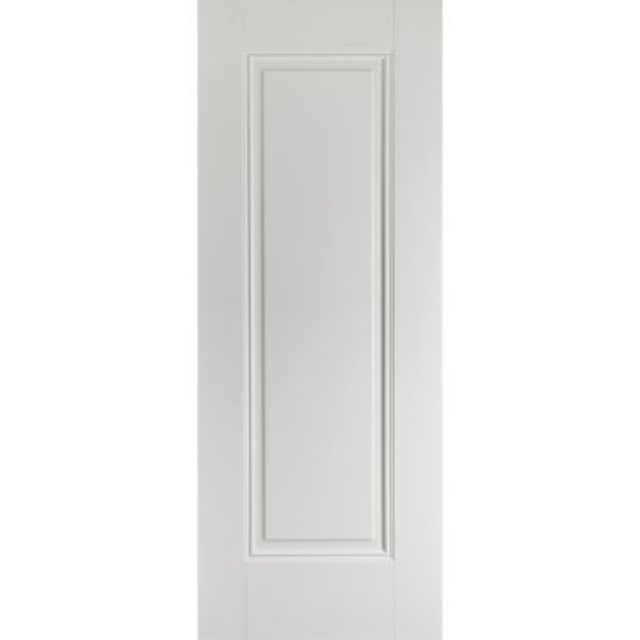 Eindhoven Door: 1-Panel *White Primed* 35mm Internal Door - LPD White Doors