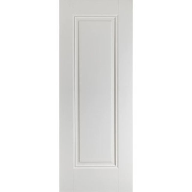 Eindhoven Fire Door: FD30 1-Panel *White Primed* 44mm Internal Fire Door - LPD White Fire Doors