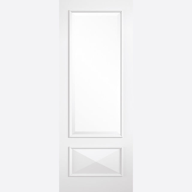 Knightsbridge Glazed Door: 1-light *Clear Glazed* *White Primed* 35mm Internal Door - LPD White Doors