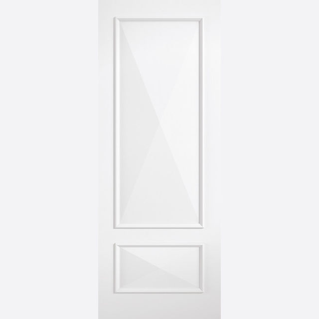 Knightsbridge Door: 2-Panel *White Primed* 35mm Internal Door - LPD White Doors