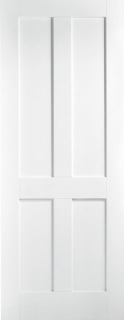 London Fire Door: FD30 4-Panel *White Primed* 44mm Internal Fire Door - LPD White Fire Doors