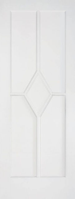 Reims Fire Door: FD30 5-Panel *White Primed* 44mm Internal Fire Door - LPD White Fire Doors