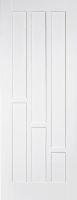 Coventry Fire Door: FD30 6-Panel *White Primed* 44mm Internal Fire Door - LPD White Fire Doors