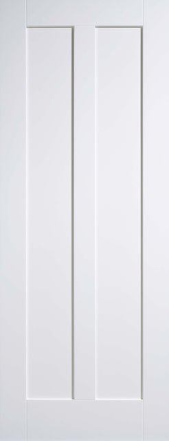 Maine Fire Door: FD30 2-Panel *White Primed* 44mm Internal Fire Door - LPD White Fire Doors