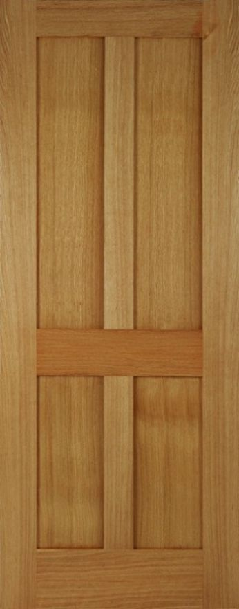Mendes Bristol 4P Flat-Panel Oak Fire Door