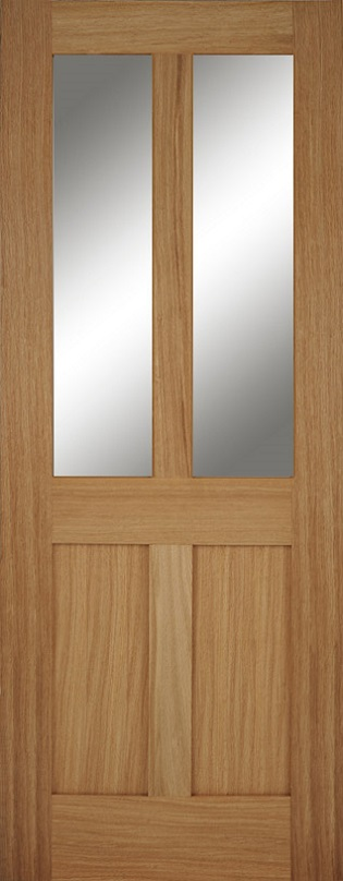 Bristol Fd30 2l Glazed Oak Fire Door