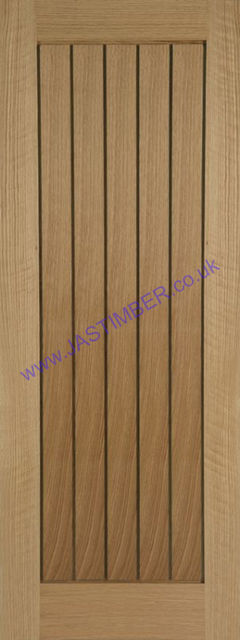 Mexicano Oak Door - Internal T&G effect Unfinished - Mendes Doors