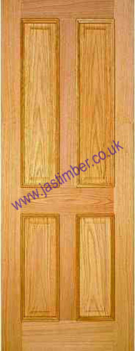 4 PANEL RM DOOR: 4-Panel *White OAK* +Raised Mouldings+ 35mm Internal Door - PMM