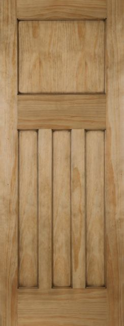 1930 Pine Fire Door: FD30 4-Panel Clear-Pine 44mm Internal Firecheck - PMM