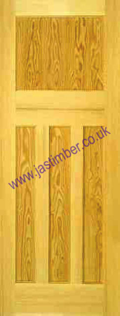 1930 Door: 4-Panel Clear Pine Edwardian-style 35mm Internal Door - PMM Doors