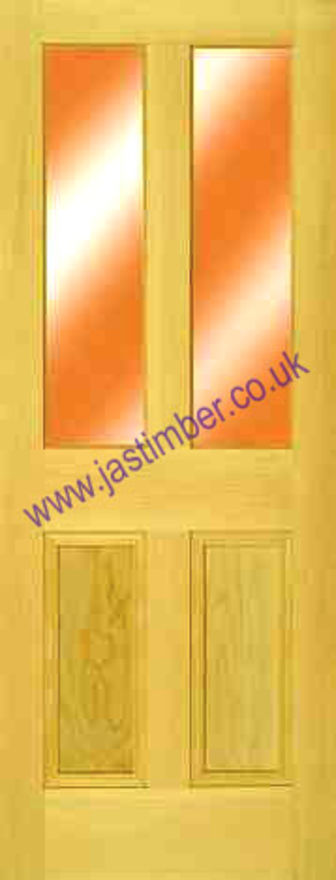 Barnsbury 2-Light Glazed Pine Door jas