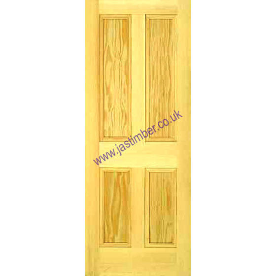 Islington Door: 4-Panel Clear Pine 35mm Internal - Mendes Doors
