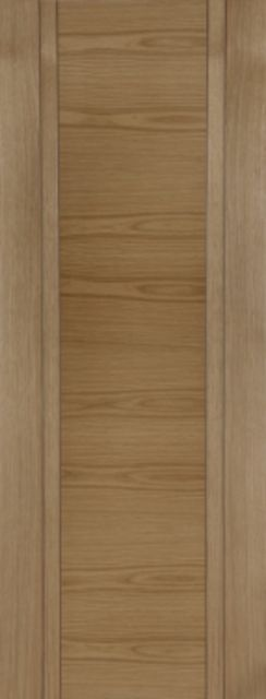 Capri Oak Door: Double V-groove Semi-solid Pre-Finished Oak 35mm Internal Door - Mendes Doors