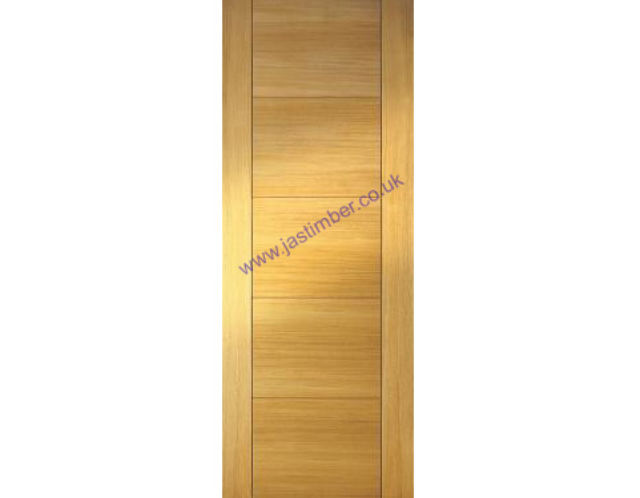 ISEO Deluxe Oak Door - V-groove Flush solid-core 35mm Pre-Finished - Mendes Doors