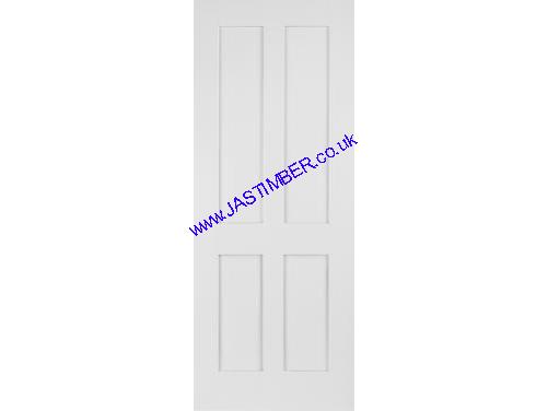 premium selection 41a8f a8db5 Shaker Door: 4-Panel White Primed Solid 35mm Internal Door - Mendes Doors