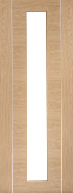 Forli Glazed Door: 1-light *Clear Glazed* *Pre-Finished Oak* 35mm Internal - XL Doors